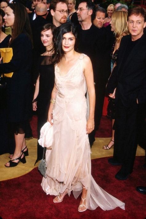 Французская актриса Одри Тоту в красивом платье. Фото