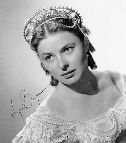 Шведская красавица Ингрид Бергман. Фото / Ingrid Bergman. Photo