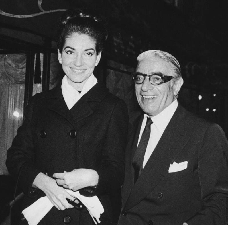 Мария Каллас и Аристотель Онассис. Фото / Maria Callas & Aristotle Onassis photo