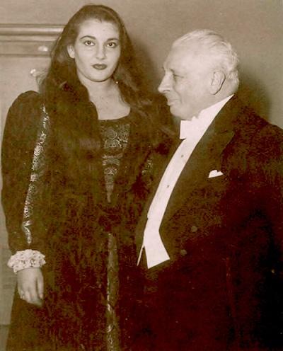Мария Каллас и Туллио Серафин. 1949 год. Фото / Maria Callas & Serafin 1949. Photo