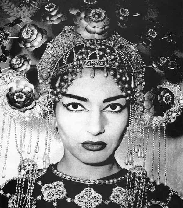 Мария Каллас в опере Джакомо Пуччини Турандот. Фото / Maria Callas - Turandot. Photo