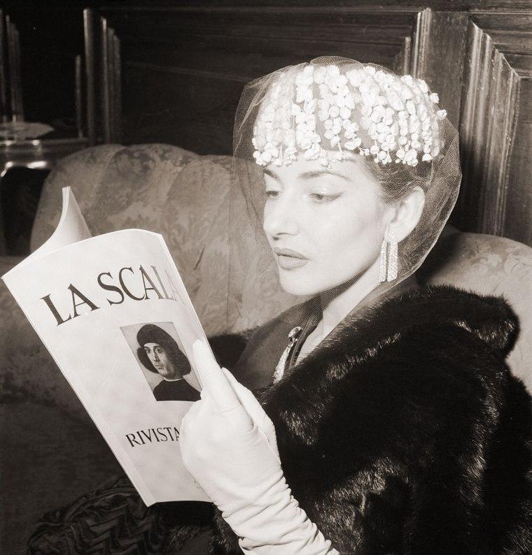 Мария Каллас Ла Скала. Фото / Maria Callas La Scala. Photo