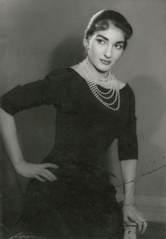 Мария Каллас. 1954 год. Фото / Maria Callas. Photo