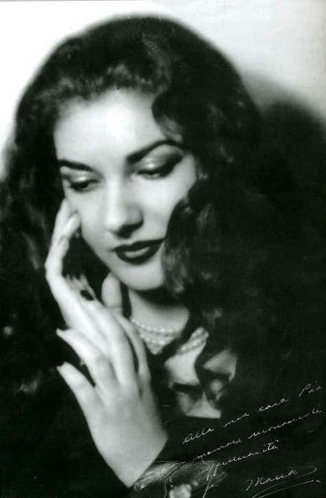 Греческая красавица Мария Каллас. Фото / Maria Callas photo