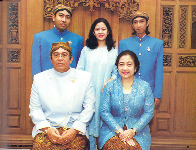 Мегавати Сукарнопутри с мужем и детьми
