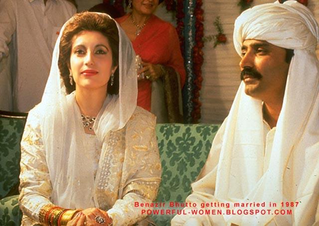 Беназир Бхутто с мужем. Фото