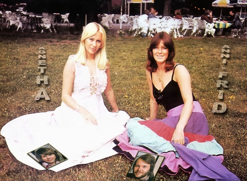 Агнета Фельтског и Анни-Фрид (Фрида) Лингстад. Фото / Agnetha Fältskog & Anni-Frid Lyngstad photo