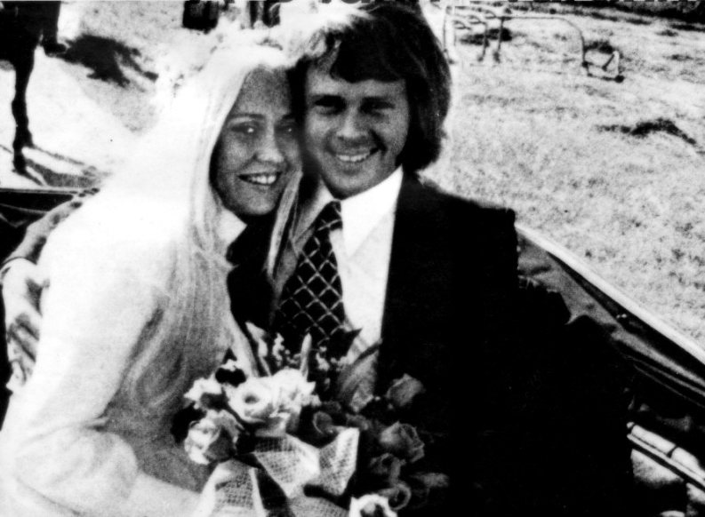 Агнета Фельтског и Бьорн Ульвеус. Свадьба. Фото / Agnetha Fältskog Björn Ulvaeus wedding photo