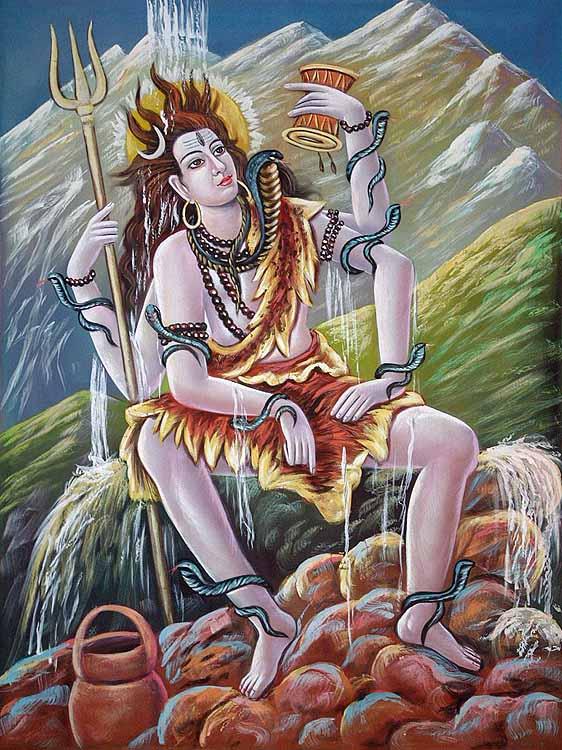 Шива принимает на себя воды Ганги