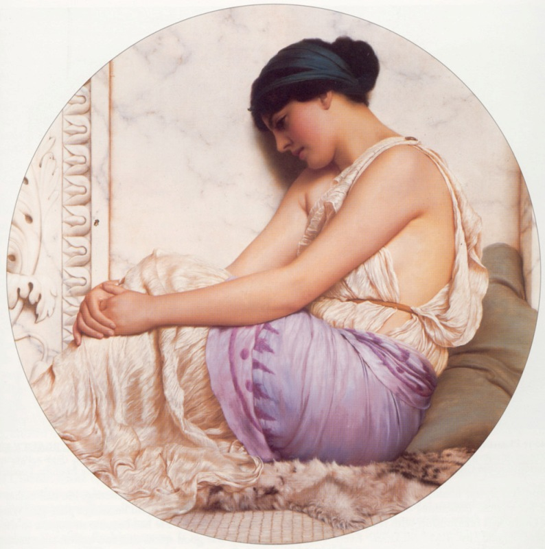 Джон Уильям Годвард. Гречанка / John William Godward. A Grecian Girl