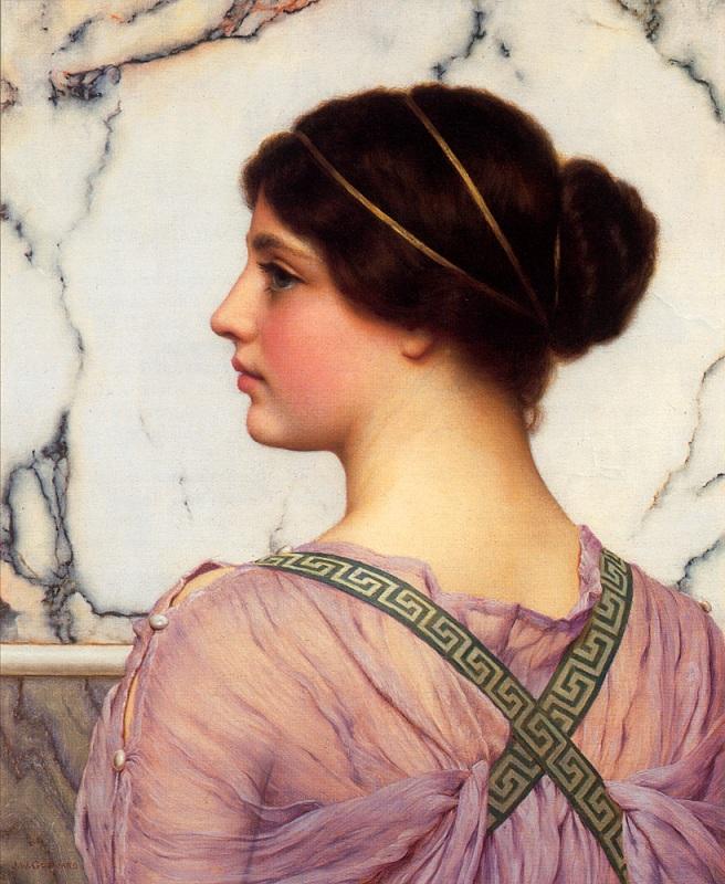 Джон Уильям Годвард. Греческая красавица / John William Godward. A Grecian Lovely
