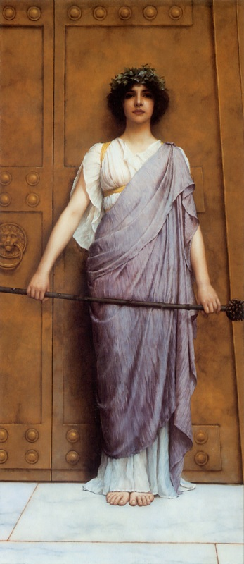 Джон Уильям Годвард. Ворота храма (Жрица Вакха) / John William Godward. At the Gate of the Temple (The Priestess of Bacchus)