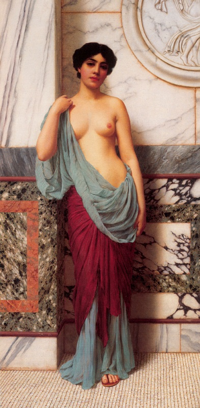 Джон Уильям Годвард. В терме / John William Godward. At the Thermae