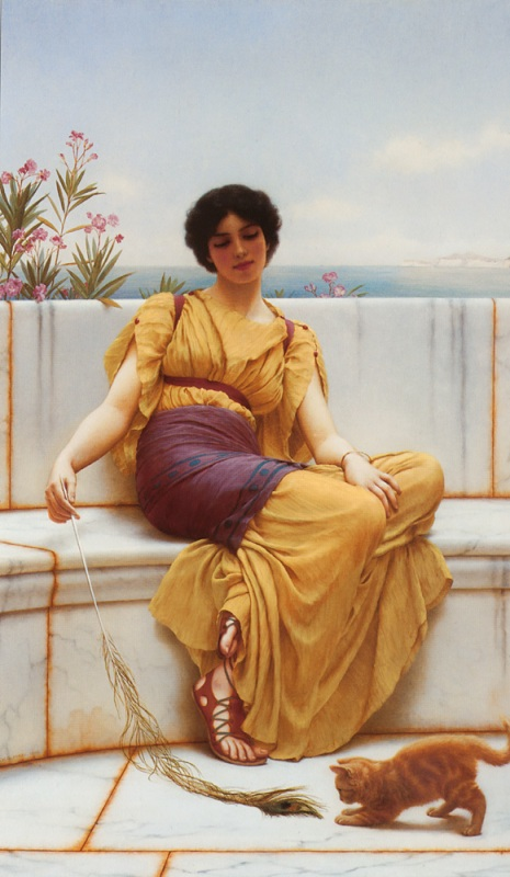 Джон Уильям Годвард. Безделье / John William Godward. Idleness