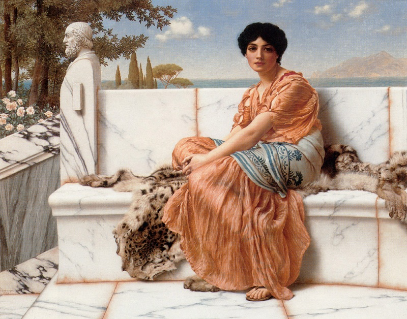 Джон Уильям Годвард. Во времена Сапфо / John William Godward. In the Days of Sappho