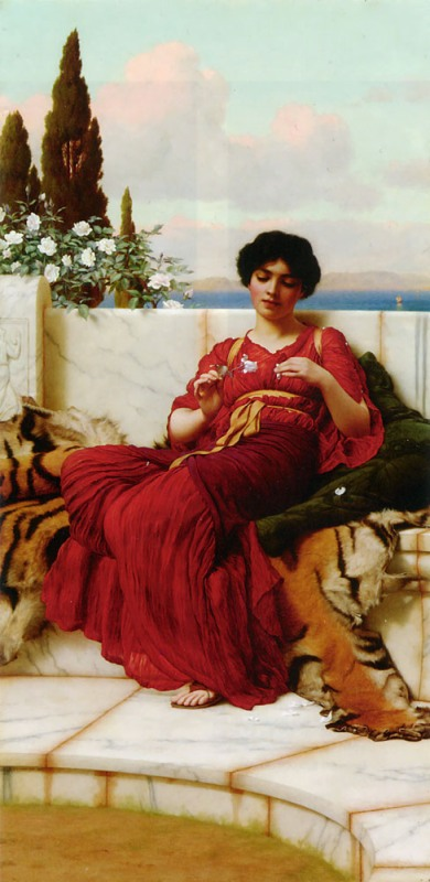 Джон Уильям Годвард. Шалость / John William Godward. Mischief