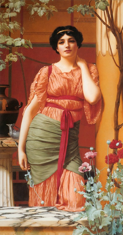 Джон Уильям Годвард. Нерисса / John William Godward. Nerissa