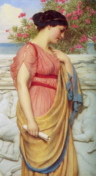 Джон Уильям Годвард. Сапфо / John William Godward. Sappho