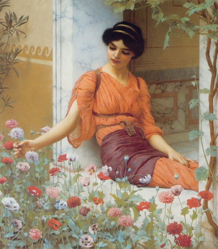 Джон Уильям Годвард. Летние цветы / John William Godward. Summer Flowers