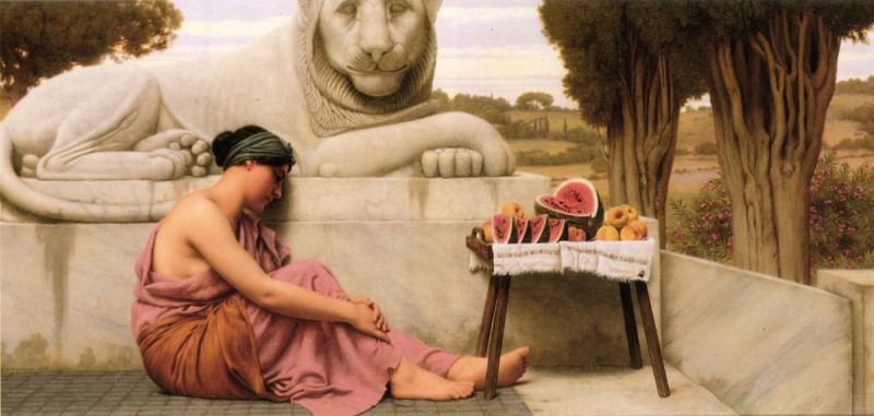 Джон Уильям Годвард. Торговка фруктами / John William Godward. The Fruit Vendor