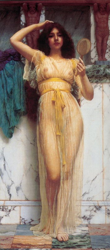 Джон Уильям Годвард. Зеркало / John William Godward. The Mirror
