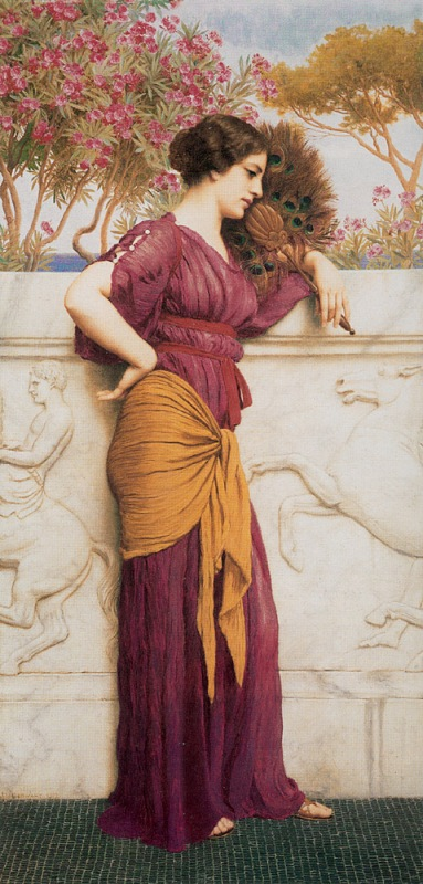 Джон Уильям Годвард. Павлиний веер / John William Godward. The Peacock Fan