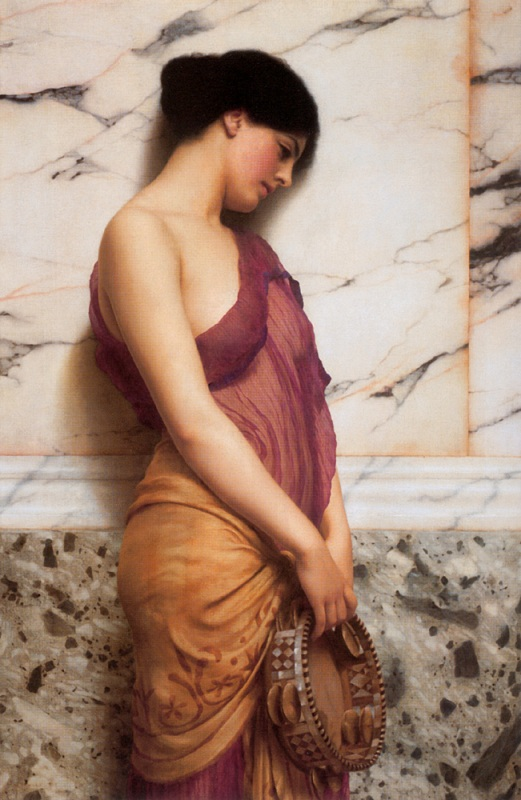 Джон Уильям Годвард. Девушка с тамбурином / John William Godward. The Tambourine Girl