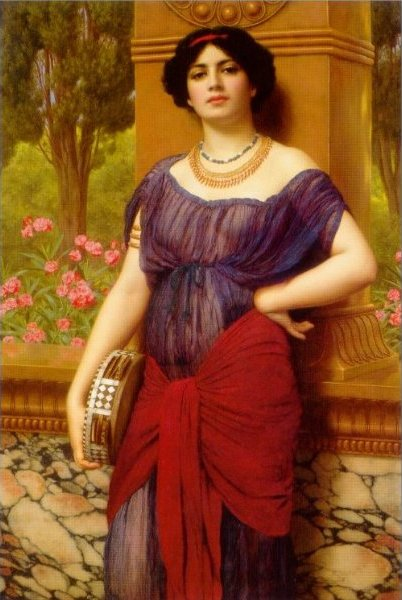 Джон Уильям Годвард. Тимпанистка / John William Godward. Tympanistria