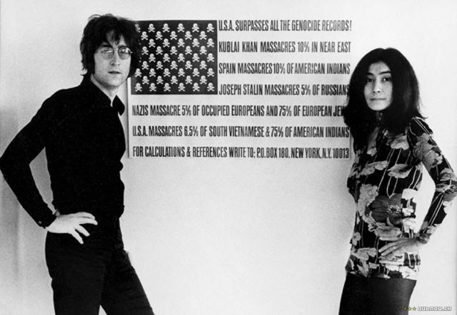 Джон Леннон и Ёко Оно. Фото / John Lennon & Yoko Ono. Photo