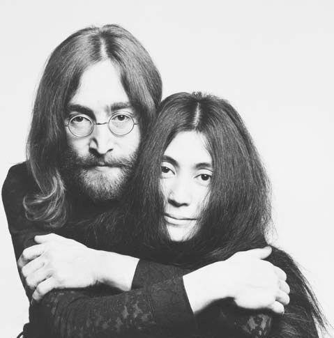 Джон Леннон и Йоко Оно. Фото / John Lennon & Yoko Ono. Photo