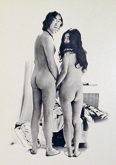 Обнажённые Джон Леннон и Йоко Оно. Фото / John Lennon & Yoko Ono naked. Photo
