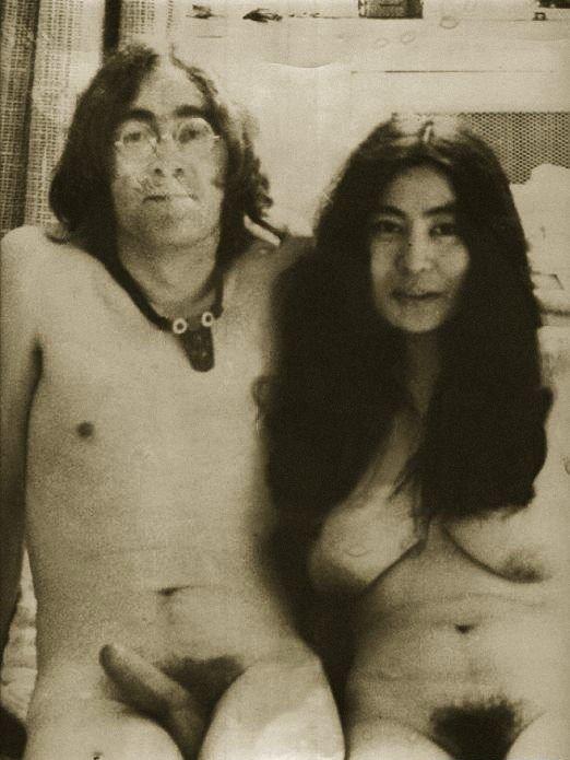 Обнаженные Джон Леннон и Йоко Оно. Фото / John Lennon & Yoko Ono nude. Photo