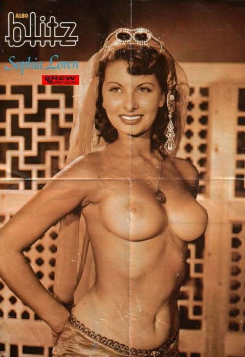 Обнаженная Софи Лорен. Фото / Sophia Loren naked. Photo