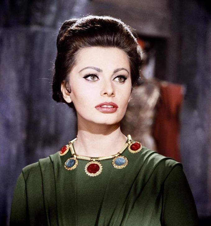 София Лорен в фильме Падение Римской империи / Sophia Loren The Fall of the Roman Empire (1964 film)