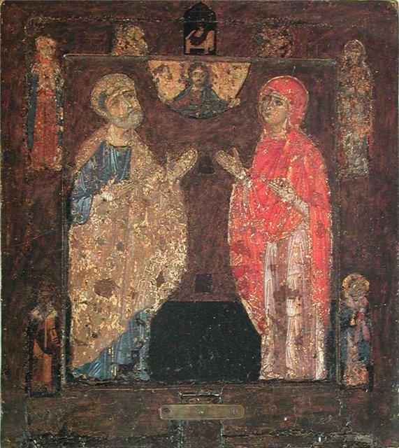 Святая Наталия и апостол Пётр. Икона