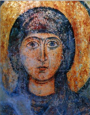 Святая Наталия. Фреска XVIIв. Софийский собор в Киеве