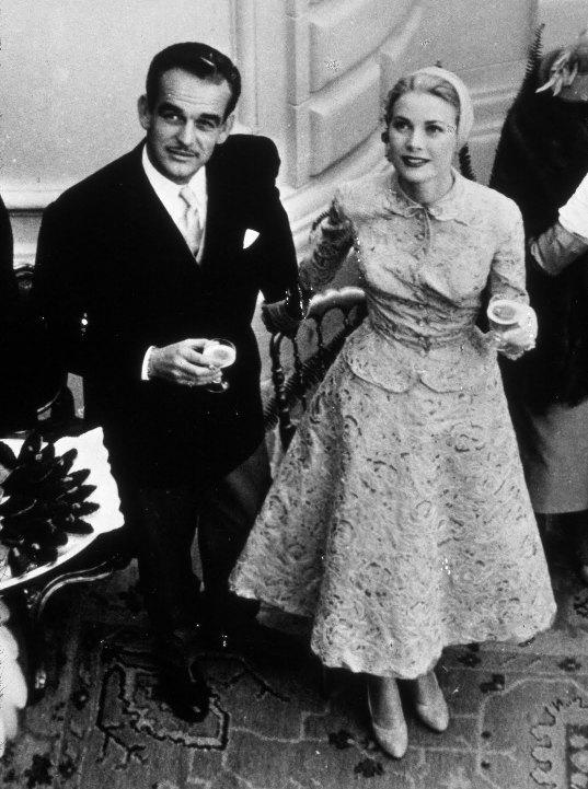 Грейс Келли и её муж, князь Монако Ренье III. Фото