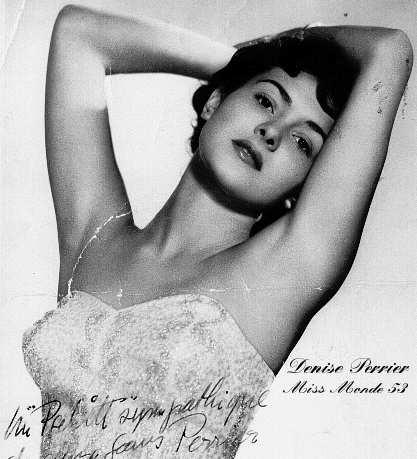 Дениз Перье (Франция), Мисс мира 1953. Фото / Denise Perrier (France), Miss World 1953. Photo