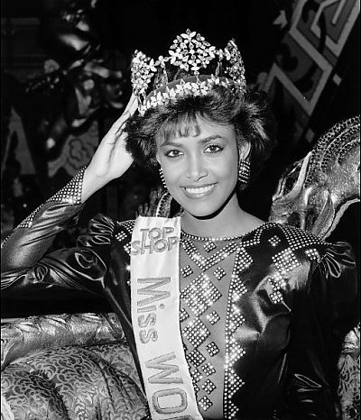 Жизель Ларонде Мисс мира 1986 Фото / Giselle Laronde (Trinidad & Tobago) Miss World 1986 Photo