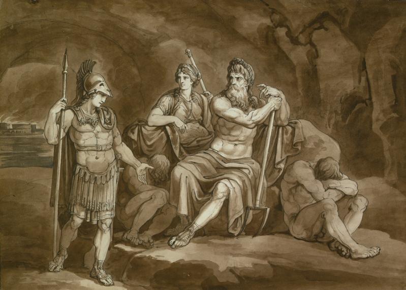 Bartolomeo Pinelli. Телемах, Аид и Персефона