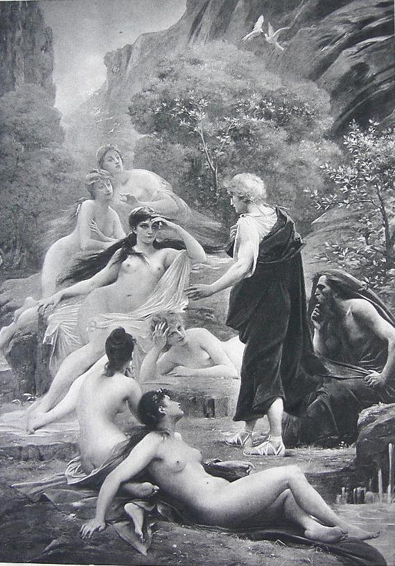 Калипсо, Телемах и Ментор