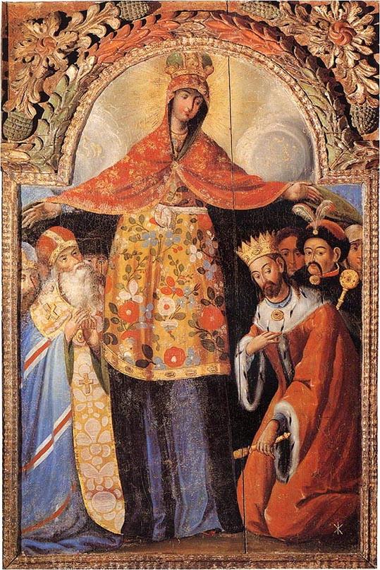 Покров Пресвятой Богородицы. Украинская икона.