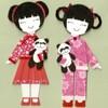 Национальные костюмы Индии, Китая, Кореи, Японии, Таиланда, Вьетнама и Филиппин на бумажных куклах